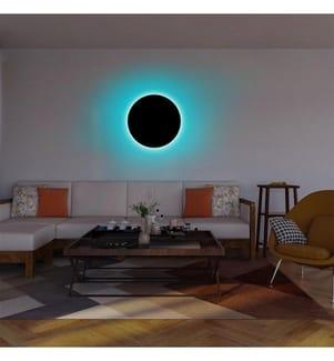 Wandleuchte Circle - Blau