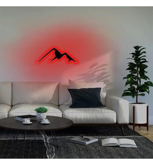 Wandleuchte Mountain - Rot