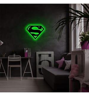 Wandleuchte Superman - Grün