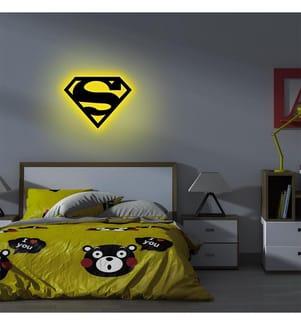 Wandleuchte Superman - Gelb