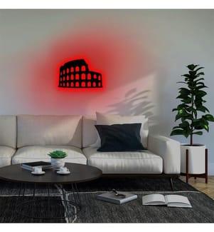 Wandleuchte Colosseum - Rot