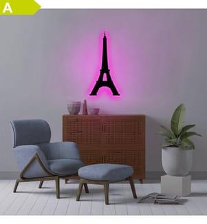 Wandleuchte Eiffel Tower - Rosa