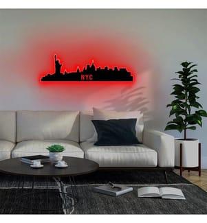Wandleuchte NYC Skyline - Rot