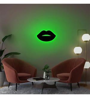 Wandleuchte Lips 2 - Grün