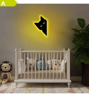 Wandleuchte Cat 2 - Gelb