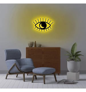 Wandleuchte Evil Eye - Gelb