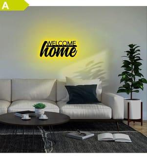 Wandleuchte Welcome Home - Gelb