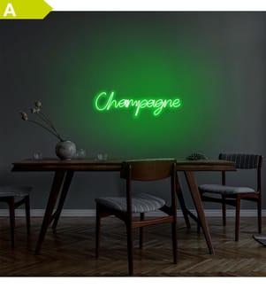 Wandleuchte Champagne - Grün