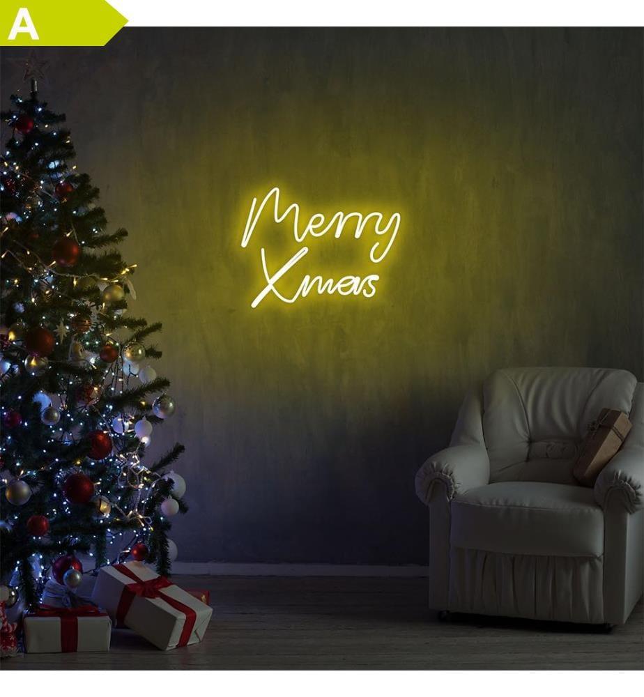 Wandleuchte Merry Christmas - Gelb