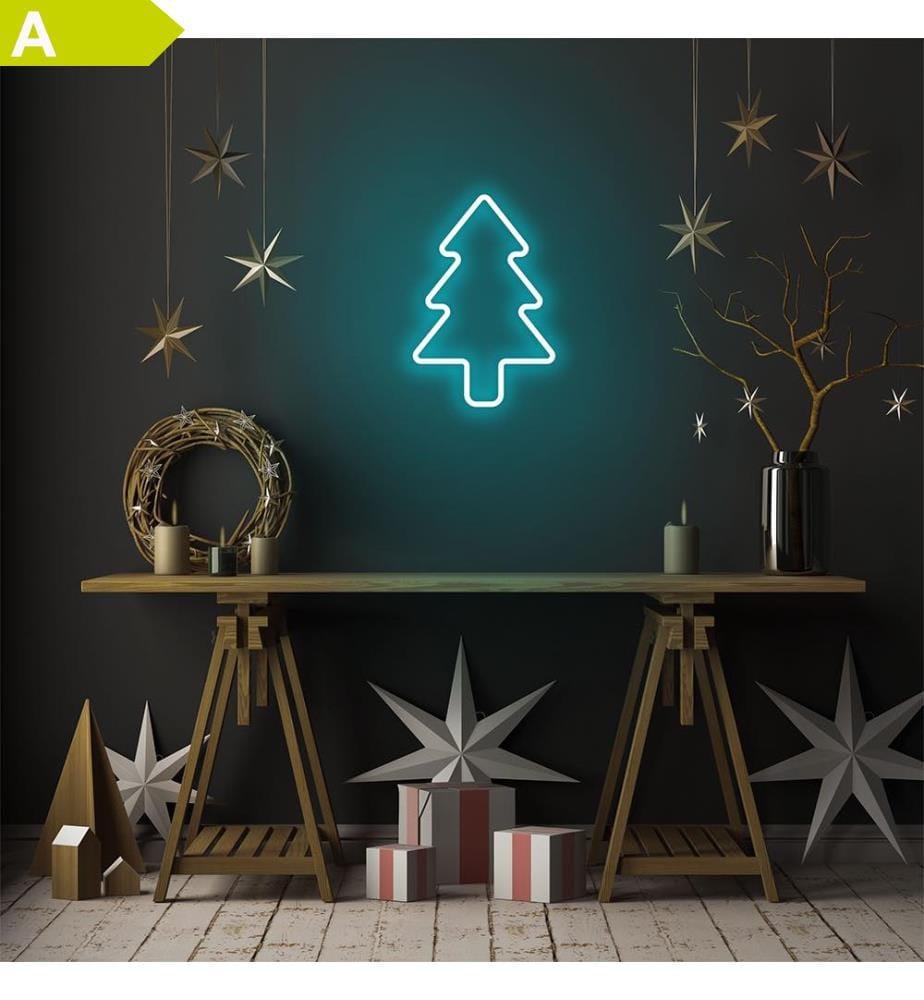 Wandleuchte Christmas Pine - Blau