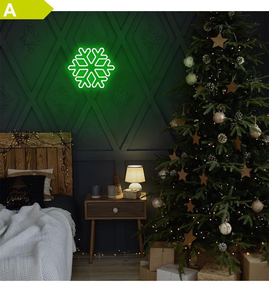 Wandleuchte Snowflake - Grün