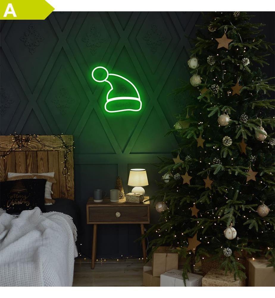 Wandleuchte Santa Claus - Grün