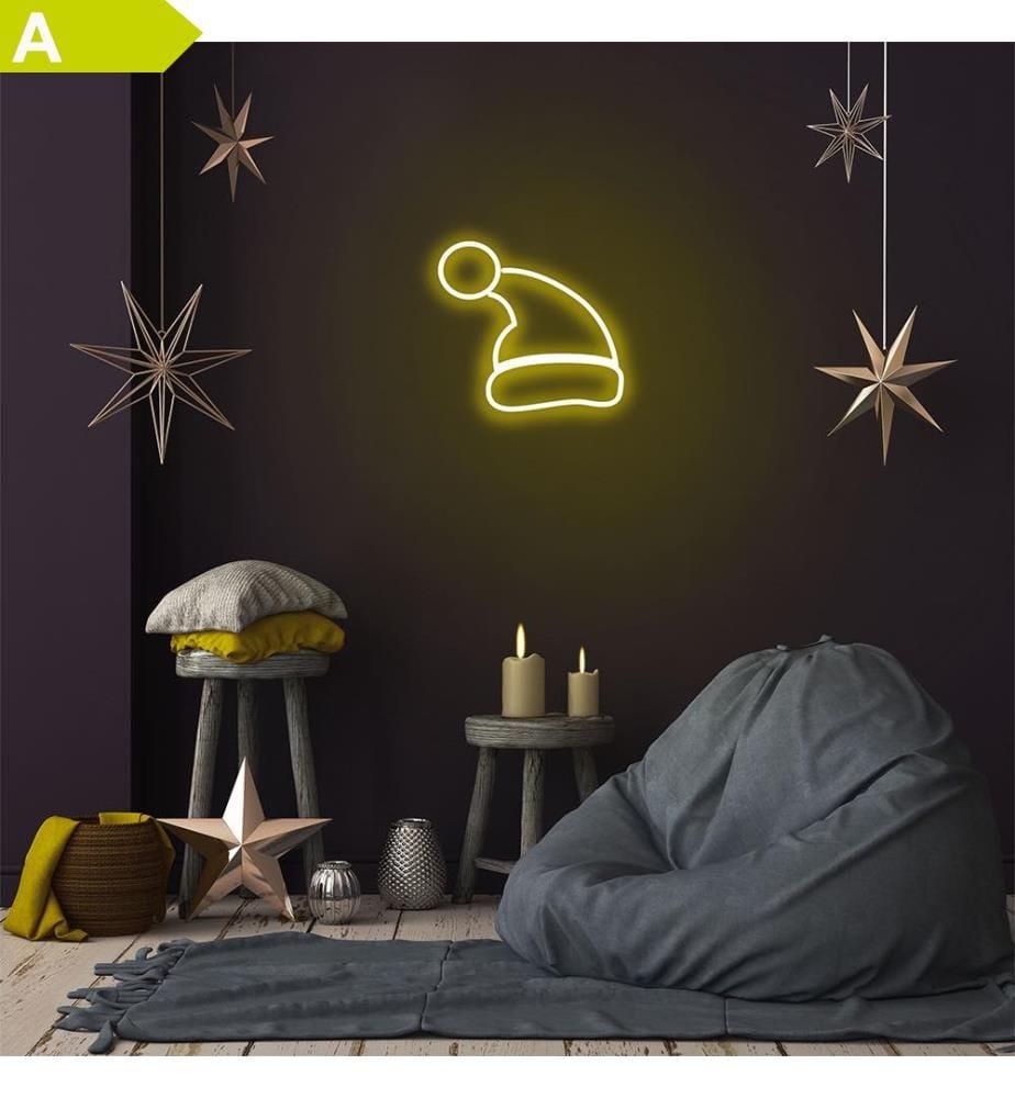 Wandleuchte Santa Claus - Gelb