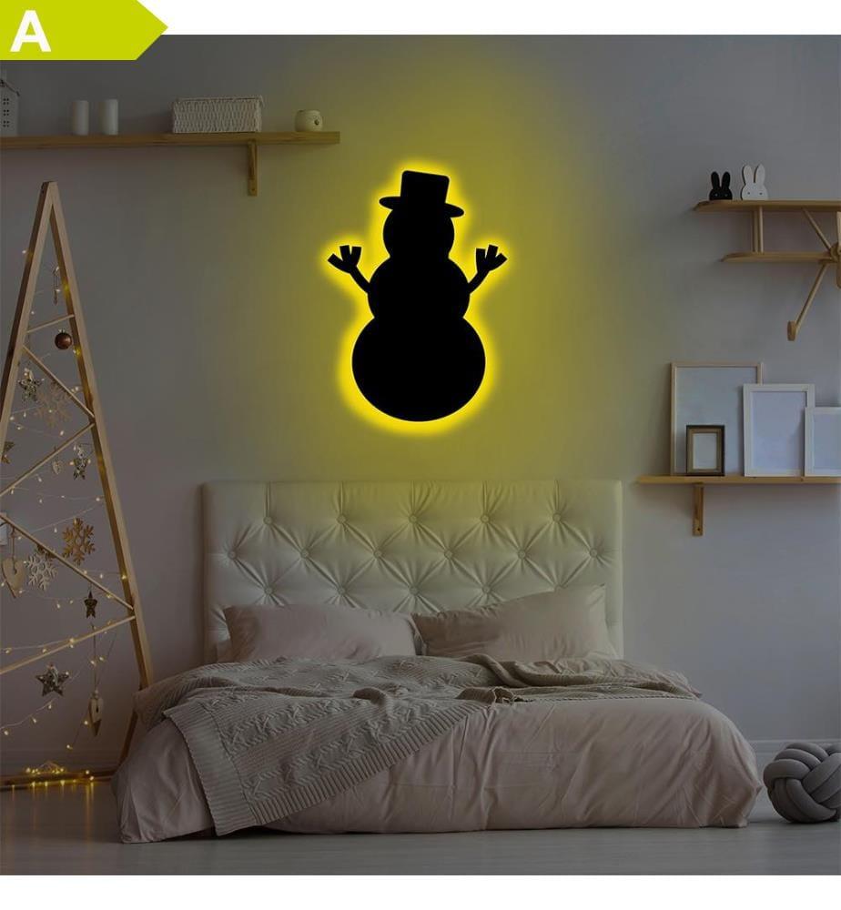 Wandleuchte Snowman 2 - Gelb