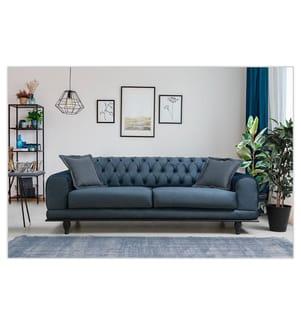 3-Sitzer Sofa Bett Arredo Capitone - Marineblau
