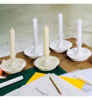 Kandelaber Tragbare Led Tischlampe Weiss