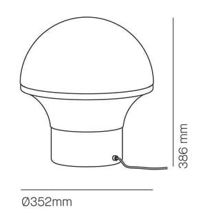 Tischlampe Big 1 X E27 Schwarz Lackierung Geysir