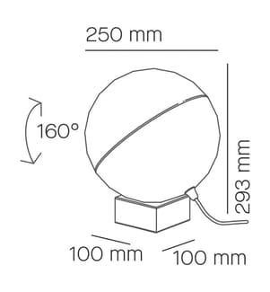 Tischlampe aus nerzfarbig lackiertem Holz 25 1 X E27