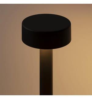 Schwarze Tischlampe Opalglas