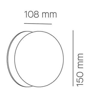 Eschenholz Opalglas-Deckenleuchte