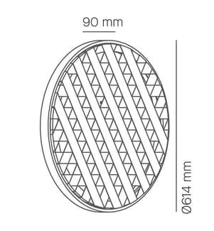 Wandleuchte Loom Durchmesser 60 22 W