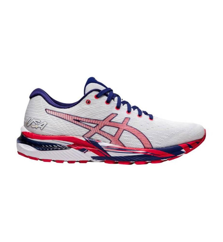 ASICS - Sneakers GEL-Cumulus 22 Weiss und Rot