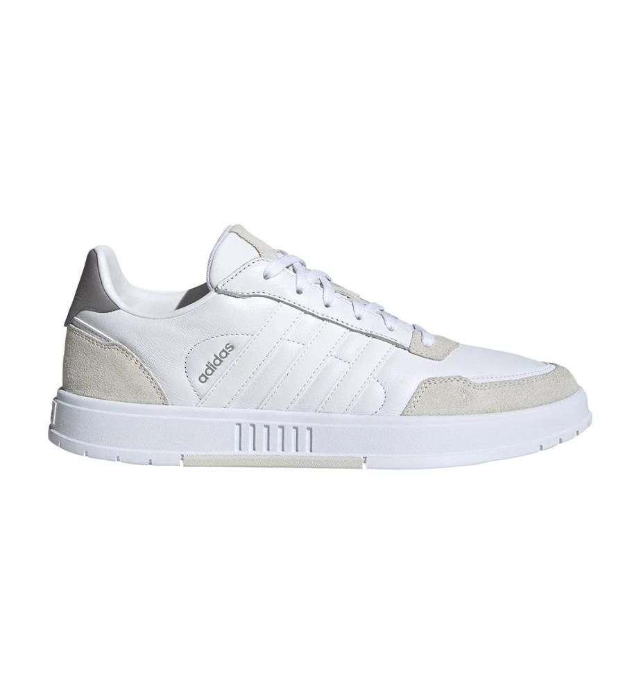 ADIDAS - Leder-Sneakers Courtmaster Weiss