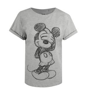 T-Shirt Disney Mickey Shy - Grau