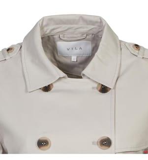 VILA CLOTHES - Mantel Cremeweiss