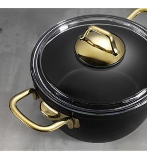 7-teiliges Topfset - Schwarz und Gold