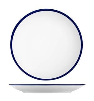 Dinner-Set 24 Pieces - Weiss und Marinblau
