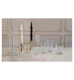 Eiscremebecher-Set 6 Stück - Kristall, Goldfarbig