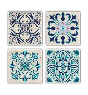 Glasuntersetzer 4 Stück - Multicolor