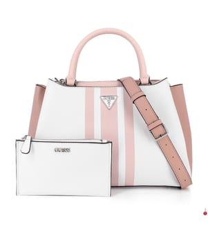 Handtasche Ambrose - Weiss und Hellrosa