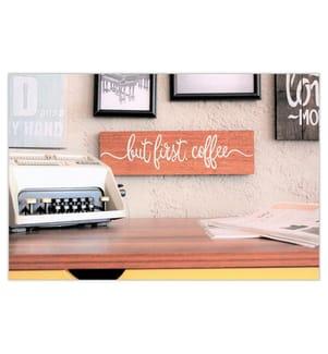 Wanddekoration Coffee - Beige und Weiss