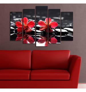 HOME - Quintychon Leinwandbild - 105 x 70 cm