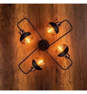 HOME - Deckenlampe Ani - Schwarz, Kupfer