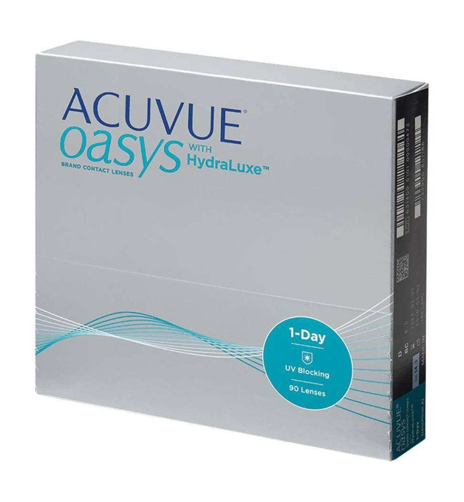 ACUVUE - Tageslinsen, Stärke 5 Oasys HydraLuxe, 90 Stück