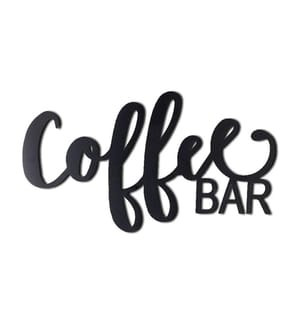 HOME - Metall-Wanddekoration Coffee Bar - 53 x 30 cm