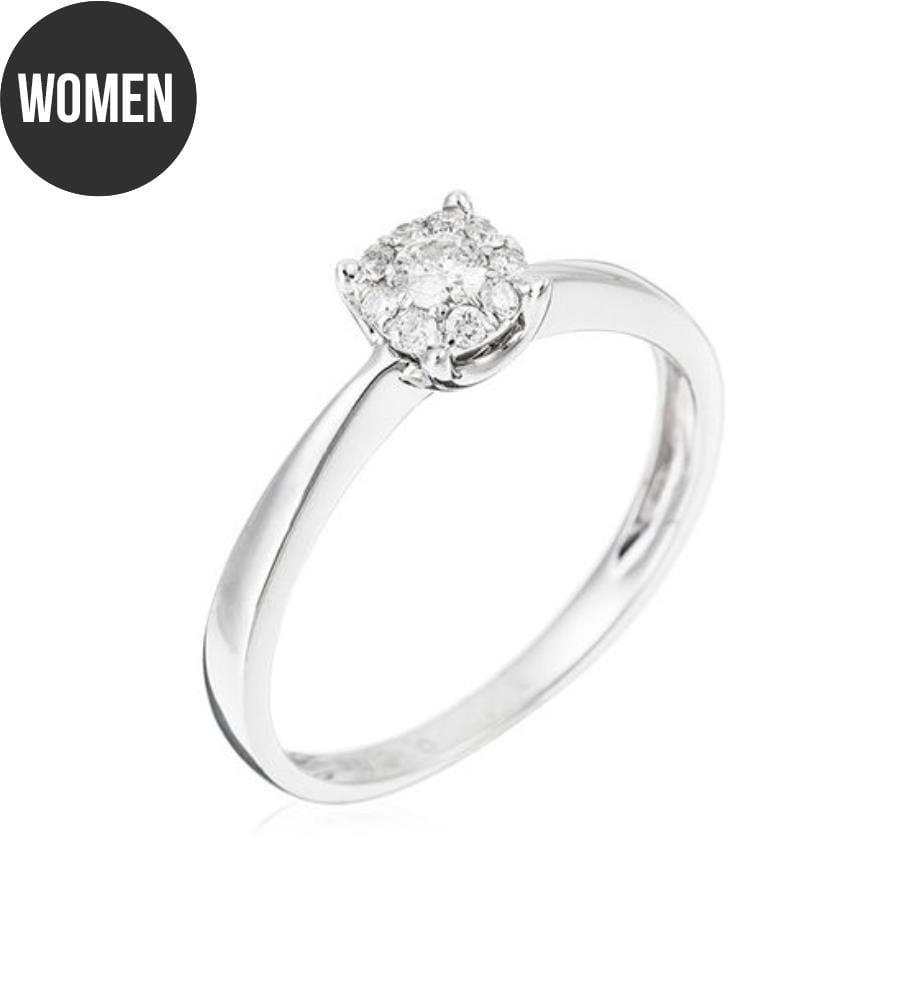 ATELIER DU DIAMANT - Ring Brillant Lucia Silber