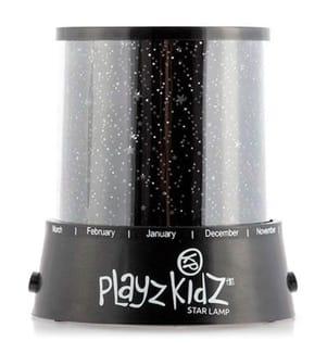 Playz Kidz LED-Lampe und Sterne-Projektor - Schwarz