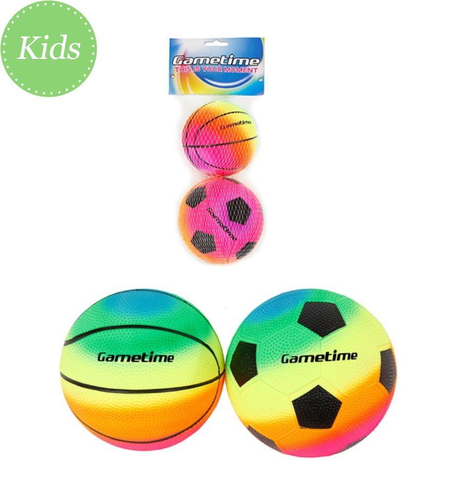 2 Softbälle 10cm Fussball & Basketball