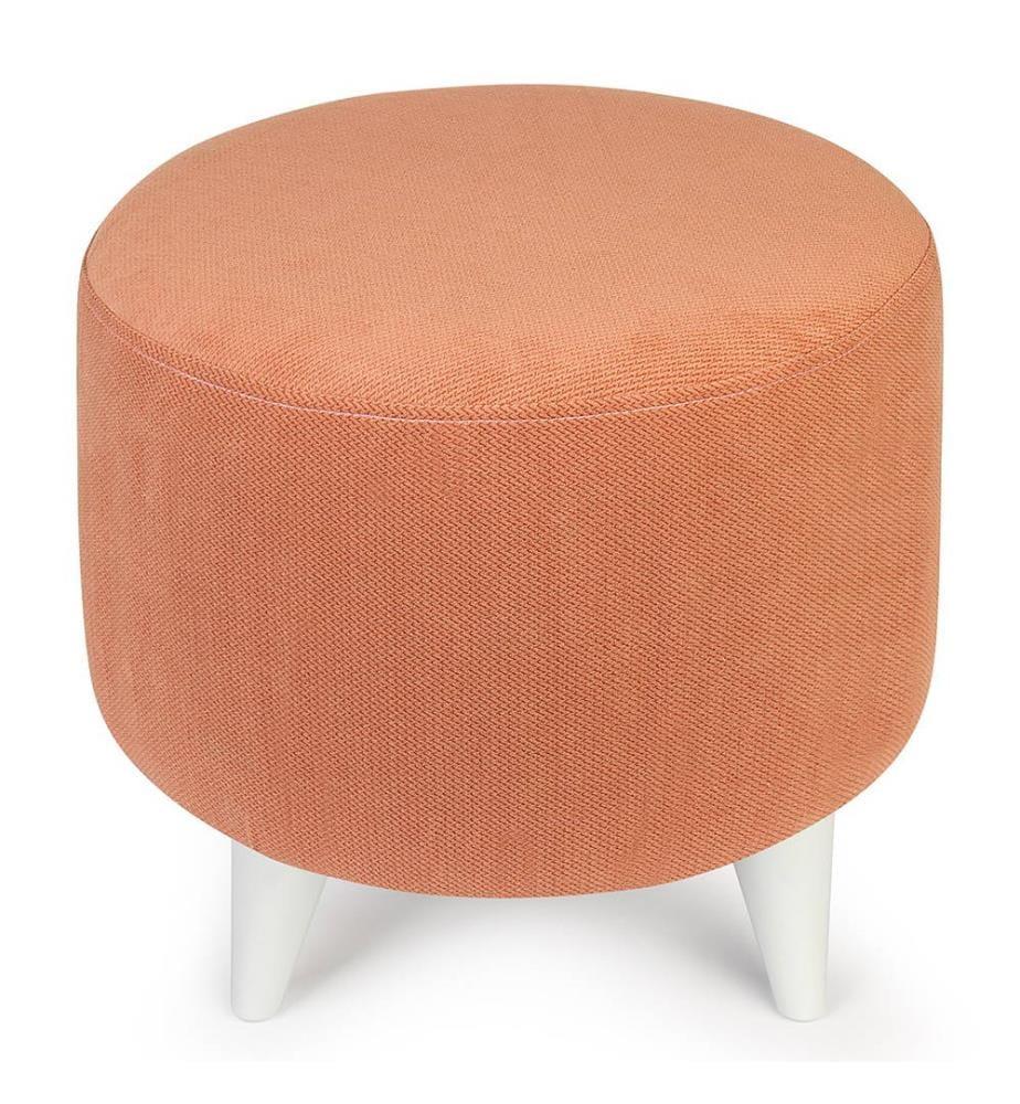 Sitzpouf Seh Ø 40 cm - Orange und Weiss