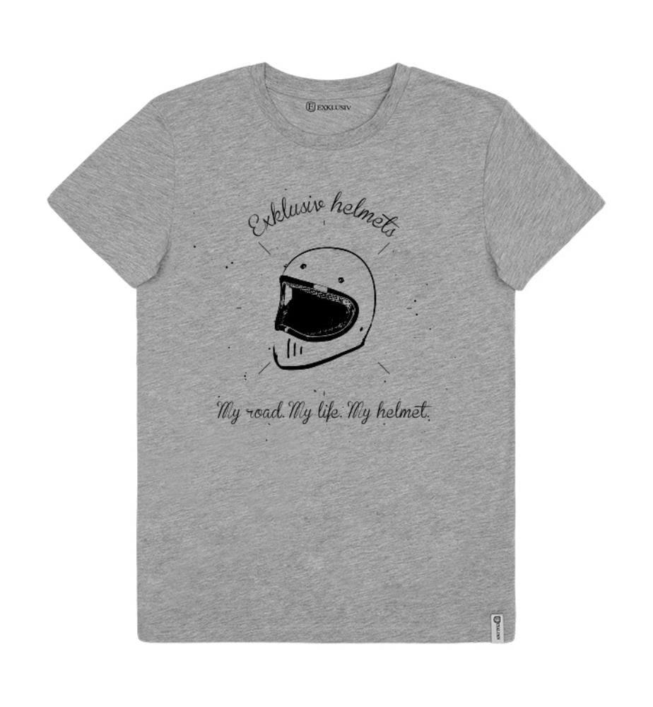 T-Shirt Helmet - Grau