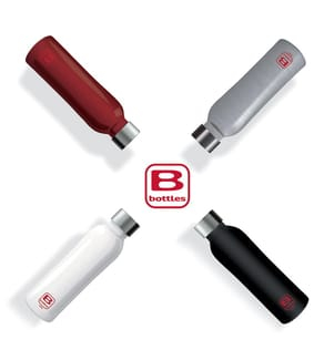 BUGATTI - Bugatti Thermosflasche Twin doppelwandig / 500 ml - Silber Brush